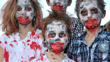 Halloween trick or treating and fancy dress competition at the Horsefair shopping centre, Wisbech. P