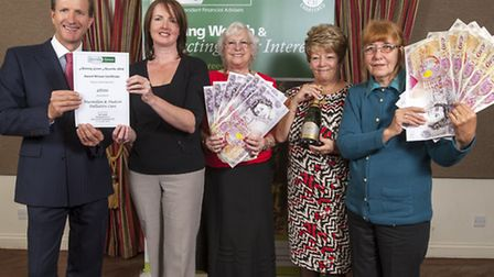 Almary Green managing director Carl Lamb with Michelle Knight, Louann Tyler, Sara Petchell and Ali N