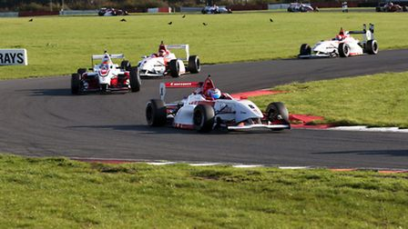 George Russell leads the pack. Image copyright Alan Smeaton @ AS Autosport. www.asautosport.co.uk