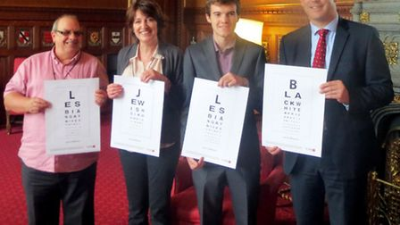 Edward Bouch, 18 from West Walton, and his tutors Jane Goodwin and Paul Copeman toured Parliament wh