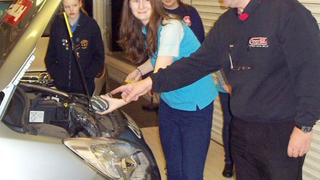 Local well known motor dealer Paragon Motor Company welcomed members of the 3rd Wisbech Guides Senio