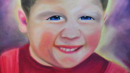 Ricky Neave,6, who was murdered 20 years ago in Peterborough; the painting was by a prisoner and sen