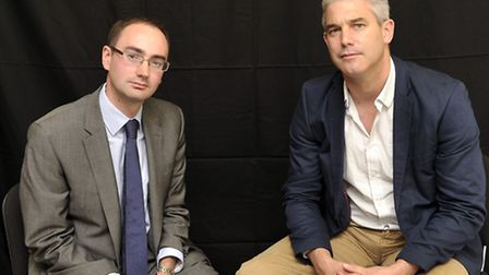 MP Steve Barclay with Tesco''s Adam Williams who has promised the Chatteris store will open next sum