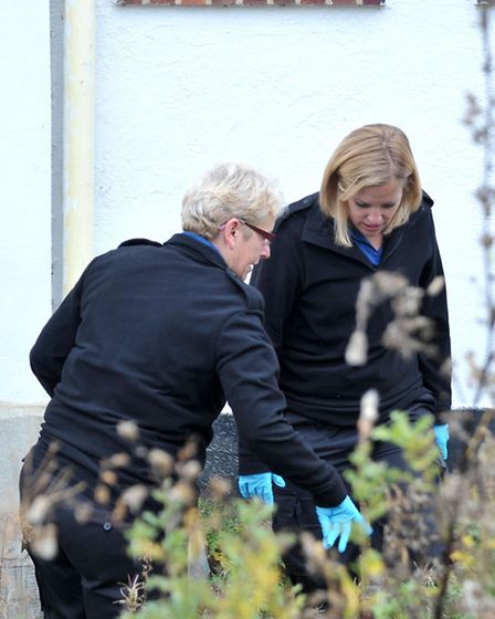 Arson at former Three Holes pub. Wisbech. Police forensic officers on scene. Picture: Steve Williams