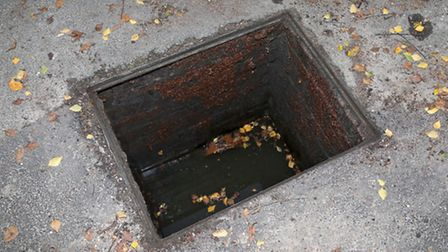 The drain is close to overflowing. Picture: KALLUM RYAN-MUELLER