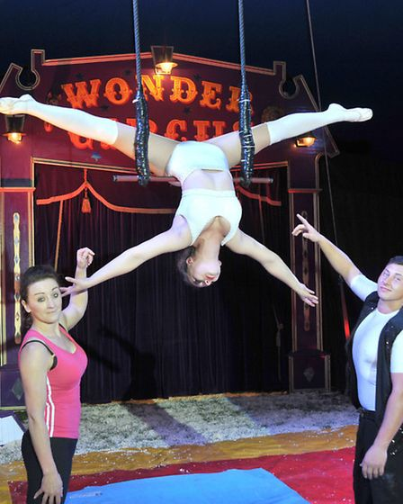 Reporter Kath Sansom at the Wonder Circus, March.Picture: Steve Williams.