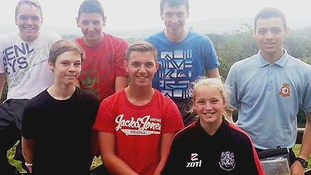 Air Cadets completed an expedition as part of their Silver Duke of Edinburgh award. From left: Cadet