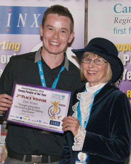 Zak Soan with the High Sheriff of Cambridgeshire Linda Fairbrother.