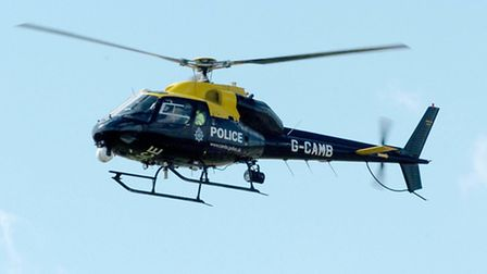 The police helicopter was involved in the search for the knife-wielding robber.