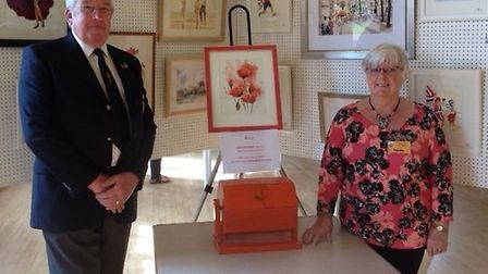 Linda Series, founder of Barnston Art Group and vice chairman of the royal british legion, with Davi