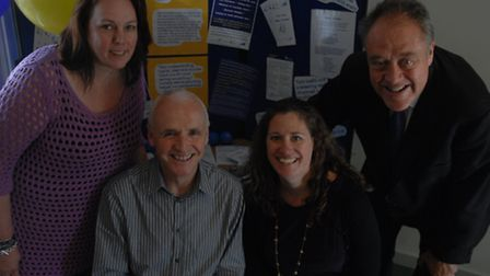 MEP Richard Howitt dropped by the community hub in Great Dunmow for World Mental Health Day