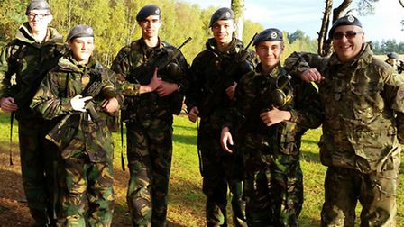 March air cadets at the shooting competition.