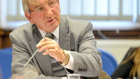Overview and Scrutiny committee of the leader's annual meeting with the committee. Cllr Peter Tunley