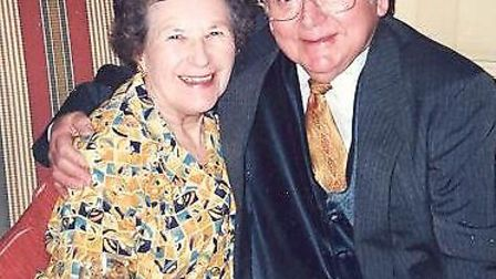 Una Crown with her late husband Jack Roland Crown, who was known as Ron or Ral.