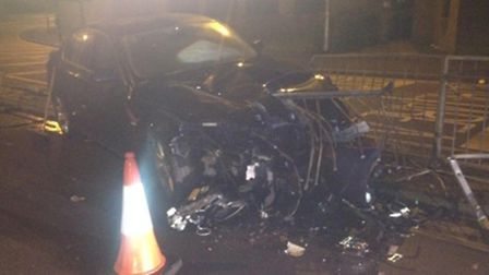 The remains of the car.