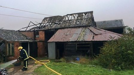 The scene of the fire, in Witcham.