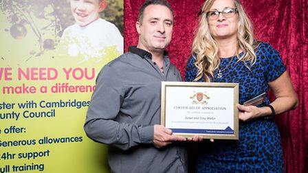 Susan and Tony Waller of Wisbech with their award
