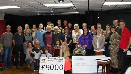 Community groups receieved a share of £9,000 from the Burwell Carnival committee