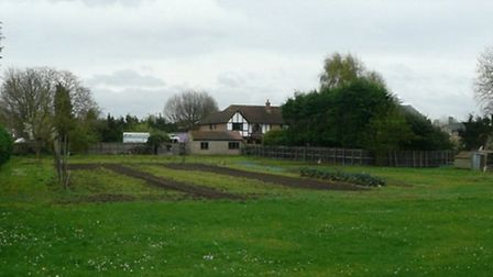 The land, off Guntons Close, where 14 new homes could be built