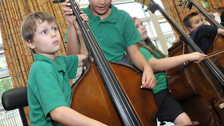 120-strong school orchestra comes together for one-off performance at St Mary's Junior School, Ely.