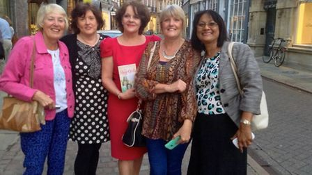 Ellee Symour (centre) with friends from left: Wendy Gates, Fiona Diviney, Susan Williams and Nita B