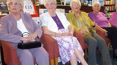 The four lead shop girls, from left: Irene, Eve, Betty and Rosemary