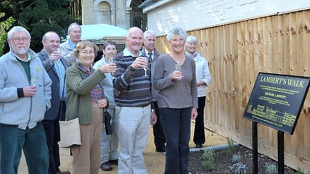 Wisbech Society held a ceremony to mark the official opening of Lambert's Walk, the new access to Wi