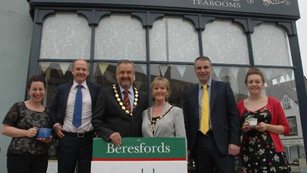 Scrumptious Tearooms and Beresfords teamed up to raise money for the mayor's youth fund.