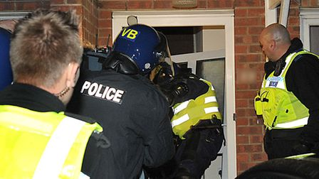 Multi Agency Police operation Endeavour. Wisbech.