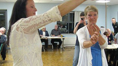 Conker championships. Ladies finalists were Yvonne Eatock of March Lions Club versus Saffron Booth,