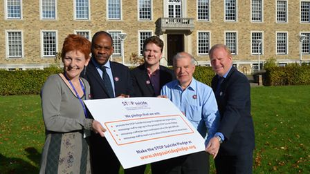 Backing the pledge, Left to Right: Aly Anderson, Mind in Cambridgeshire; Kevin Vanterpool, Detective