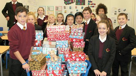 Neale-Wade pupils are sending shoeboxes full of toys and gifts to underprivileged children.