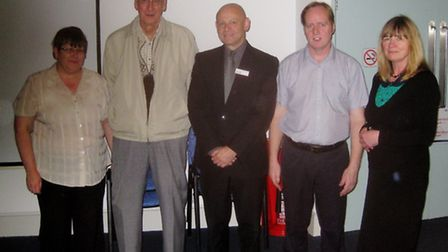 Mel Sutterby, Charles Paxton, Alan Neville, Adrian Sutterby and Jennifer Lawler.