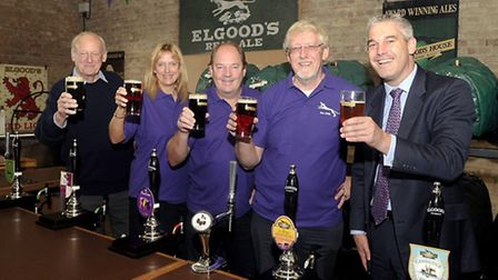 MP Steve Barclay at the Wisbech Beer Festival.
