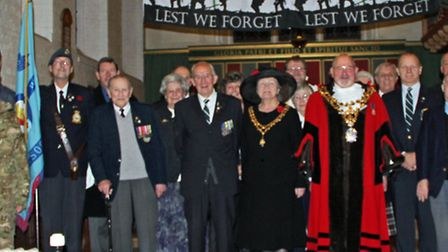 the Annual Church Service for the Cambridgeshire Regiment held at St Augustine's Church Wisbech yest