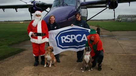 The plane is ready and so is Santa- he'll will dropping into RSPCA, Block Fen