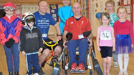 GB Paralympic Skier and Adventurer, Sean Rose, visited Stretham Primary School for a session with th