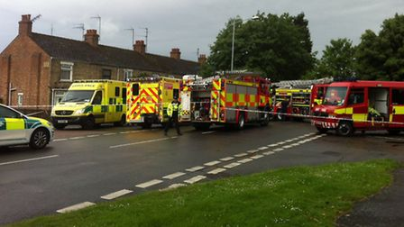 Emergency services at the scene of the Moy Park ammonia leak in June.