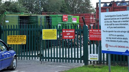 Whittlesey Recycle centre. Picture: Steve Williams.