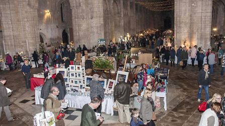 Scenes from the preview evening for the 2014 Christmas Gift and Food Fair at Ely Cathedral. Picture: