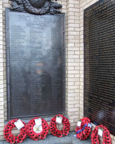 Wreaths were laid at the memorial during the ceremony