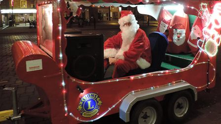The Whittlesey Lions' Santa Float will be back in action next month.