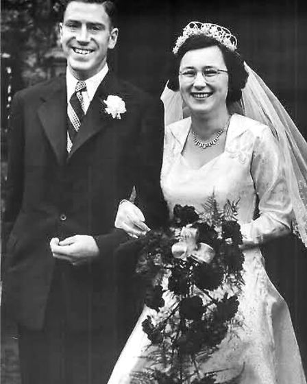 Derrick and Joan pictured on their wedding day.