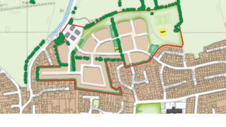 The proposed layout of the 249 home site that has been dismissed in a planning appeal.