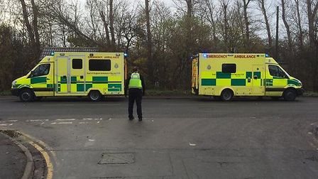 Three vehicle accident, Whittlesey