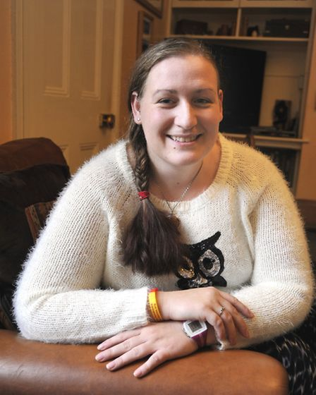 Elher-Danos Syndrome sufferer Ruth Baker, at her home in Sutton.