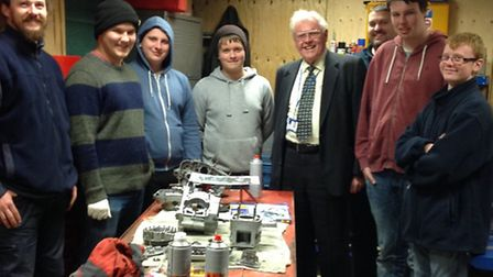 Picture of Sir Graham Bright with Littleport Youth Bike Project