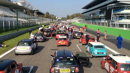 Martyn Wadsley and Andy Stimpson took part in The Italian Job. The convoy lines up at Monza.