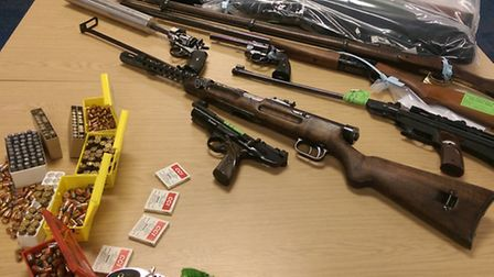 Firearms handed in as part of the gun amnesty.