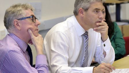 Steve Barclay MP (right) with Andrew Reed, area director for NHS England.